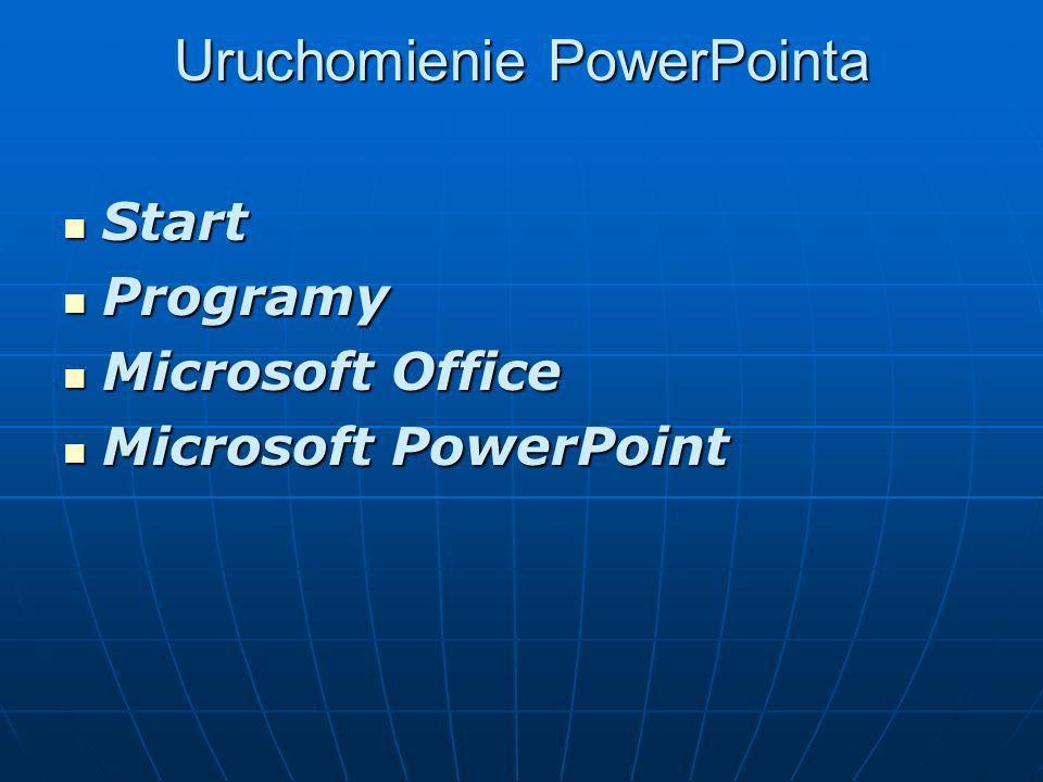 Uruchomienie PowerPointa