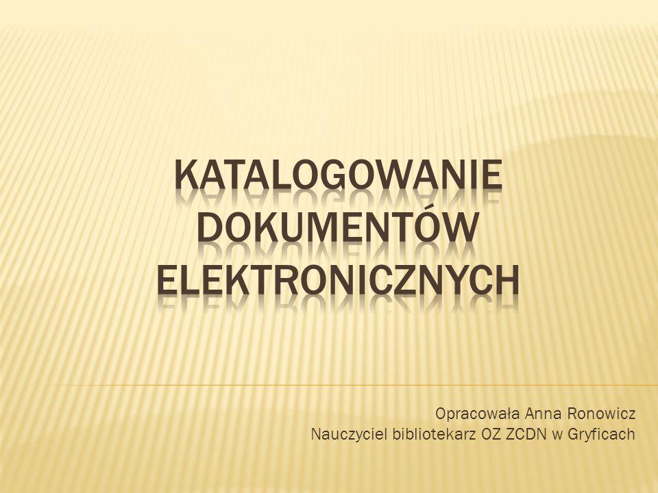 Katalogowanie dokumentów elektronicznych