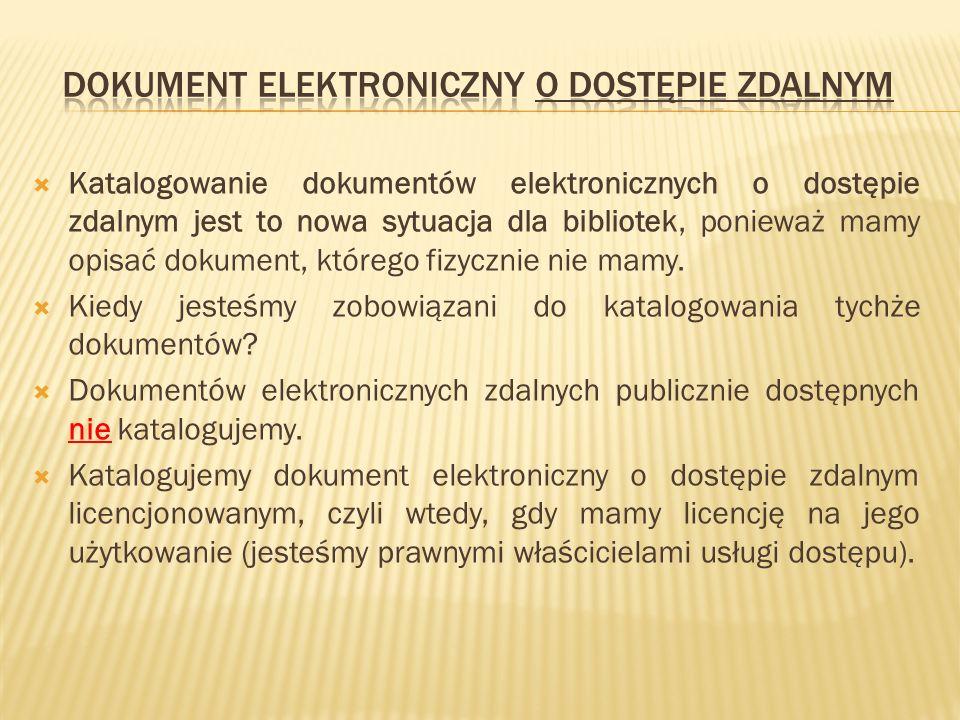 Dokument elektroniczny o dostępie zdalnym