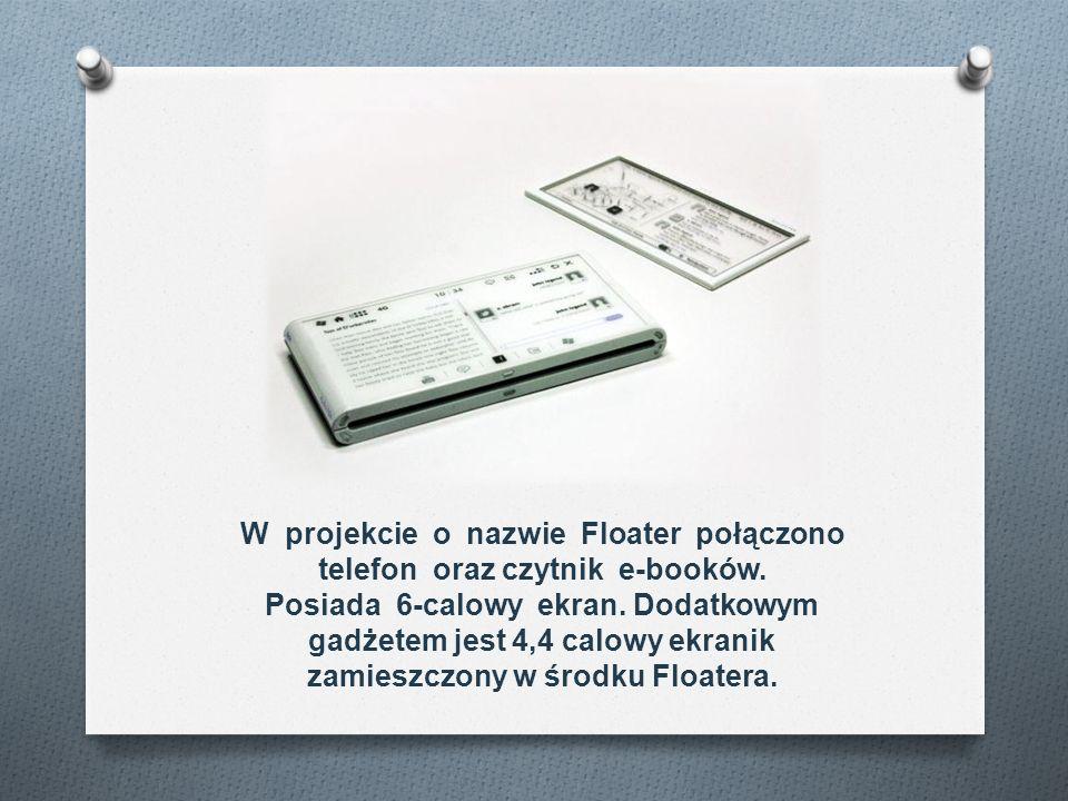 W projekcie o nazwie Floater połączono telefon oraz czytnik e-booków.