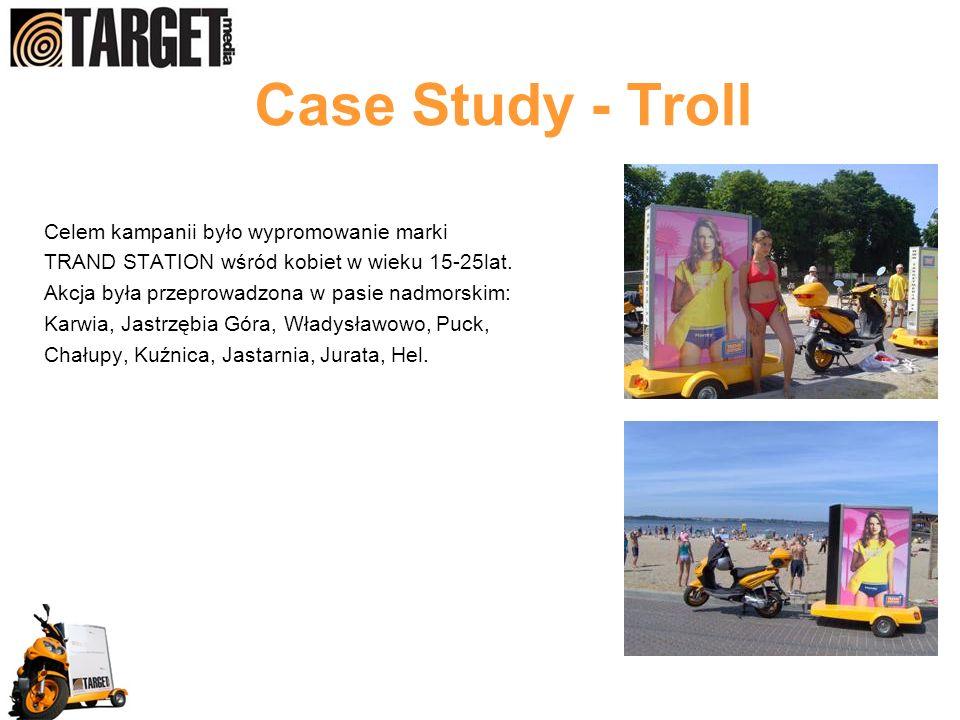 Case Study - Troll Celem kampanii było wypromowanie marki