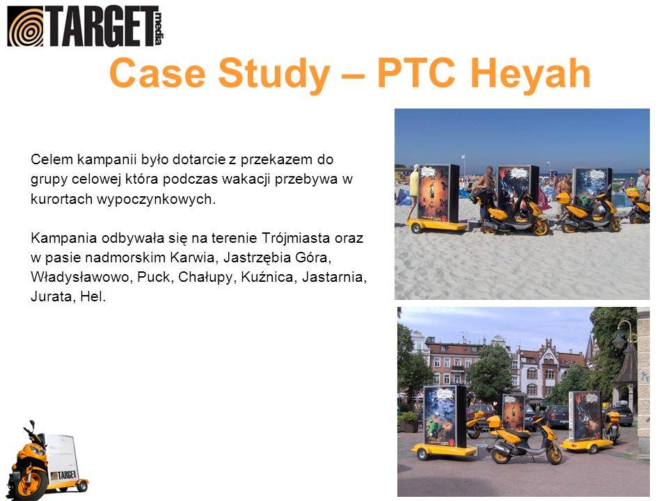 Case Study – PTC Heyah Celem kampanii było dotarcie z przekazem do
