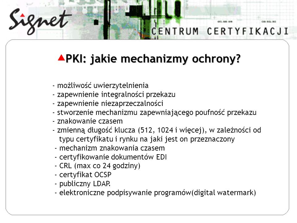 PKI: jakie mechanizmy ochrony