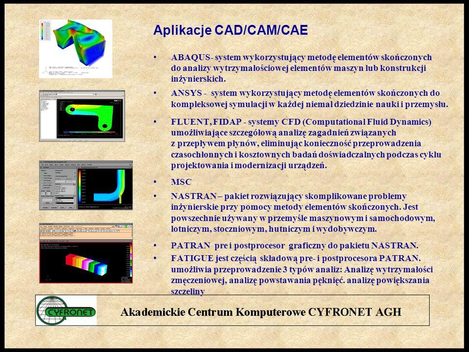 Aplikacje CAD/CAM/CAE