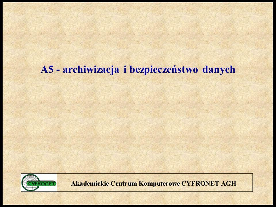 A5 - archiwizacja i bezpieczeństwo danych