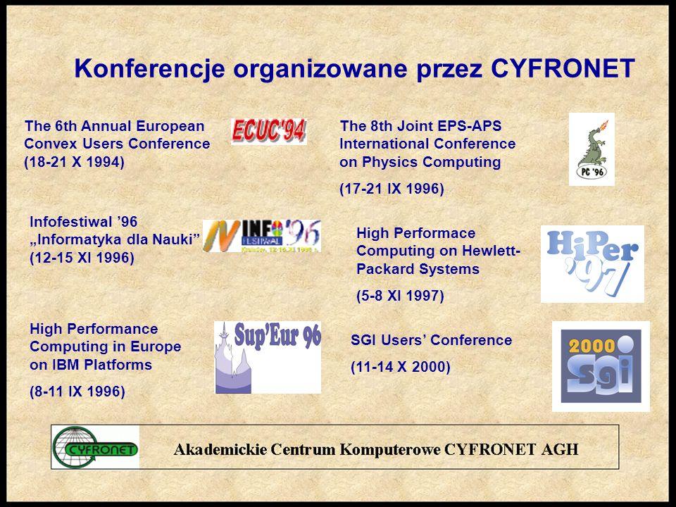 Konferencje organizowane przez CYFRONET
