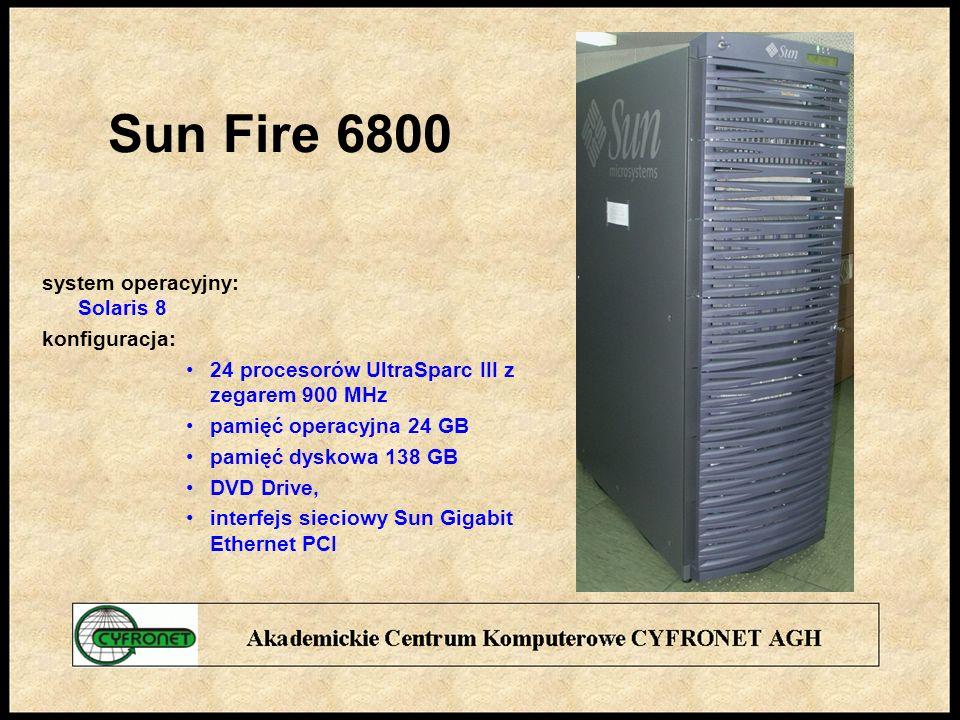 Sun Fire 6800 system operacyjny: Solaris 8 konfiguracja: