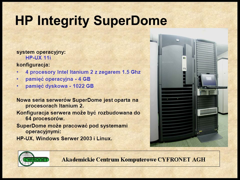 HP Integrity SuperDome
