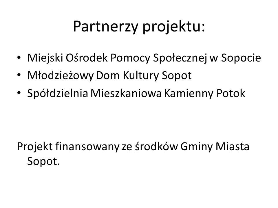 Partnerzy projektu: Miejski Ośrodek Pomocy Społecznej w Sopocie