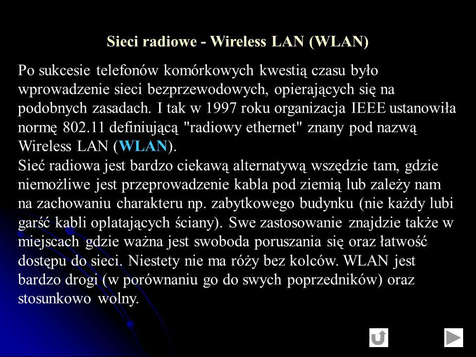 Sieci radiowe - Wireless LAN (WLAN)