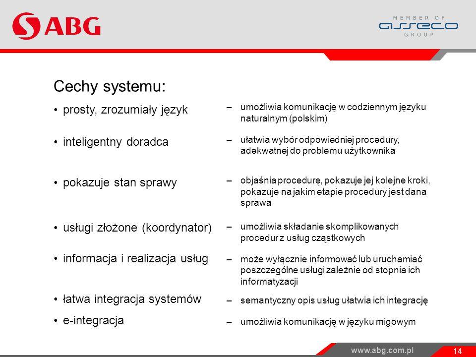 Cechy systemu: prosty, zrozumiały język inteligentny doradca