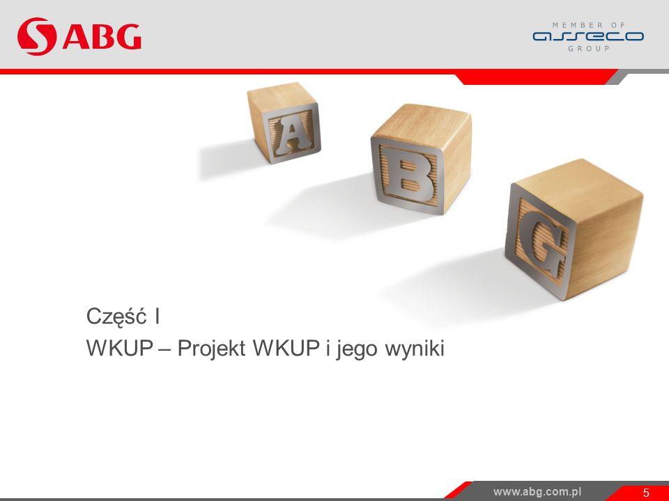 Część I WKUP – Projekt WKUP i jego wyniki