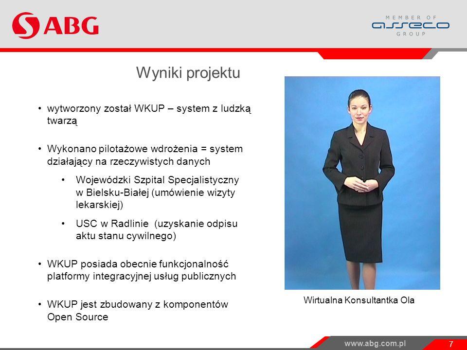 Wyniki projektu wytworzony został WKUP – system z ludzką twarzą