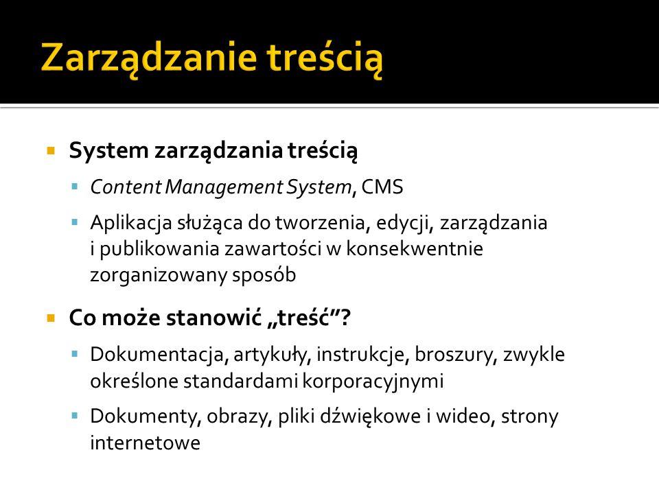 Zarządzanie treścią System zarządzania treścią