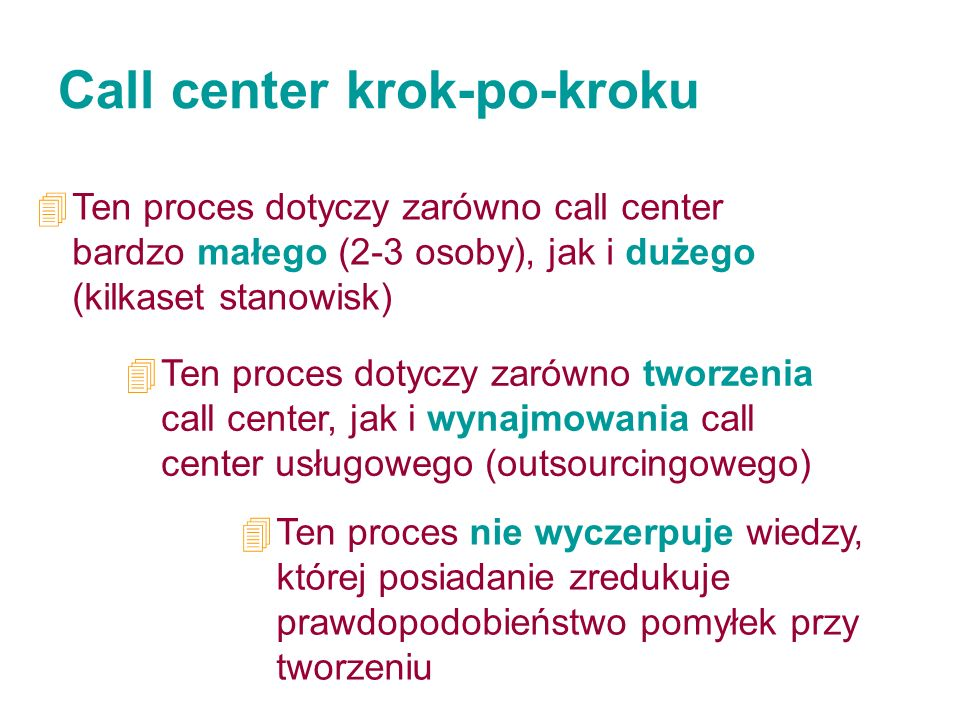 Call center krok-po-kroku