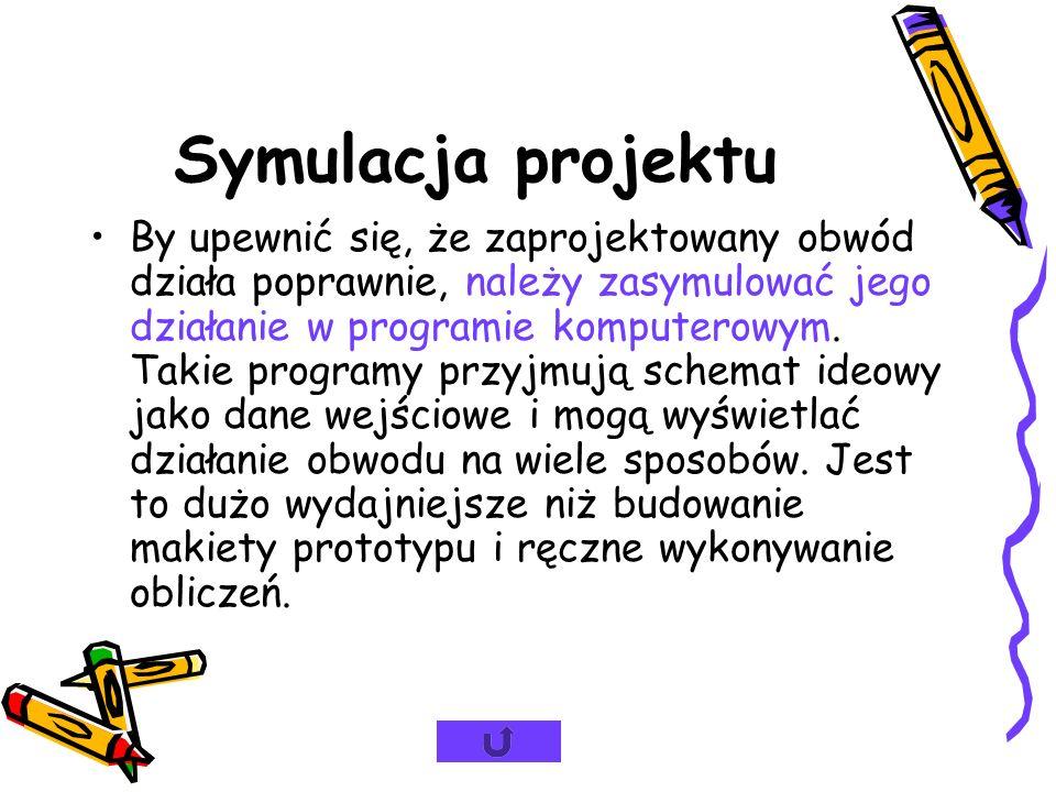 Symulacja projektu