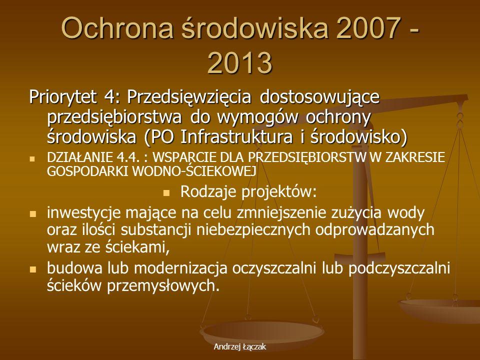 Ochrona środowiska 2007 - 2013