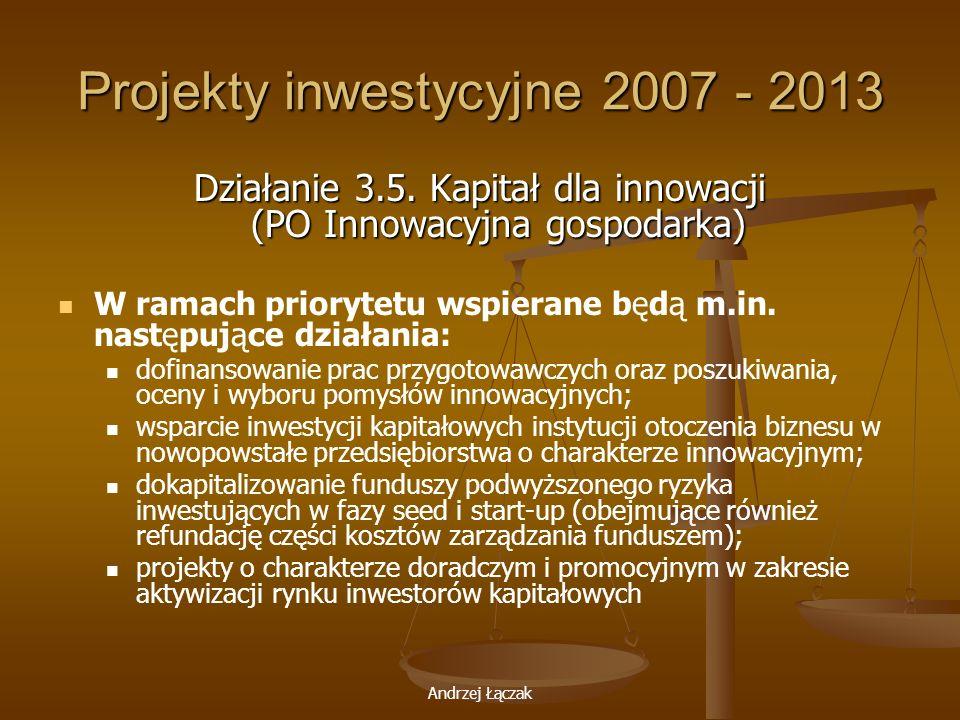 Projekty inwestycyjne 2007 - 2013