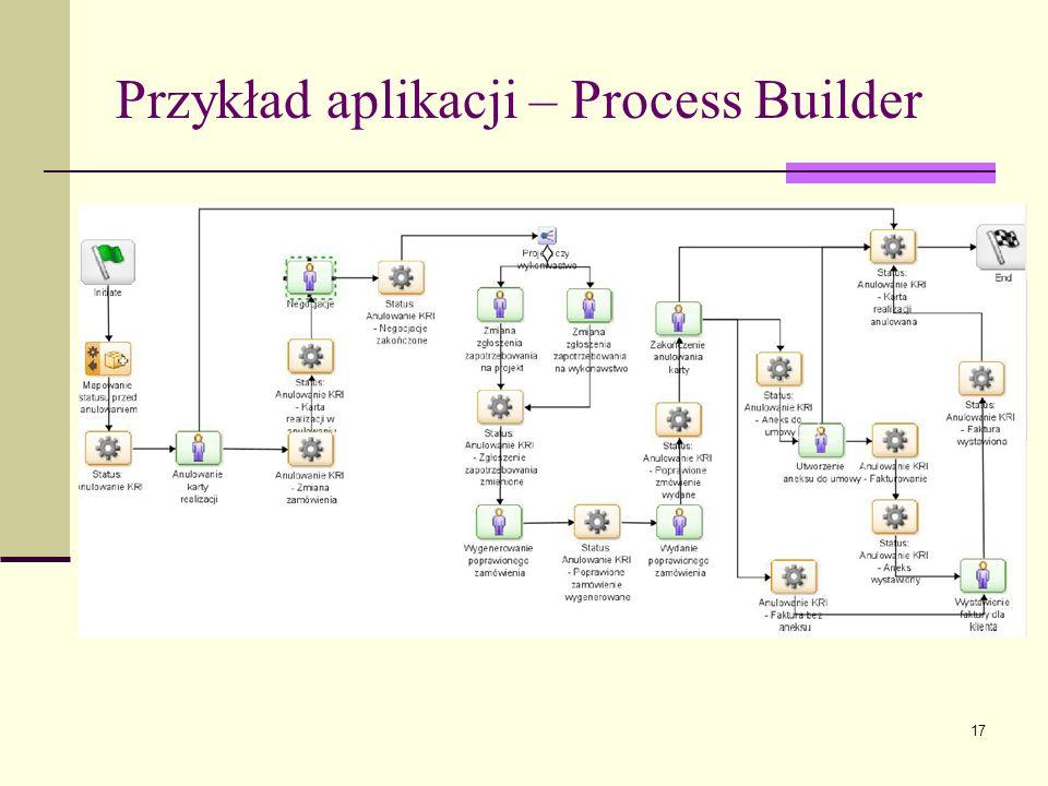Przykład aplikacji – Process Builder