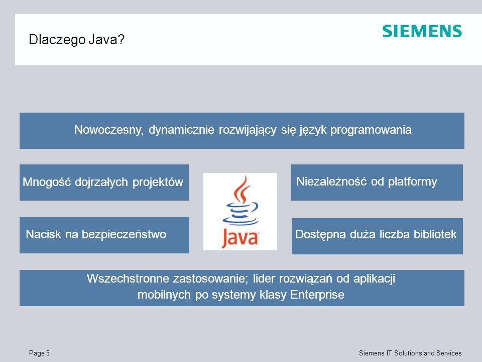 Dlaczego Java Nowoczesny, dynamicznie rozwijający się język programowania. Mnogość dojrzałych projektów.