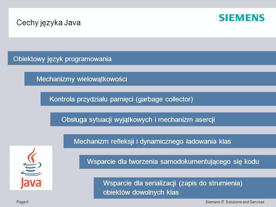 Cechy języka Java Obiektowy język programowania