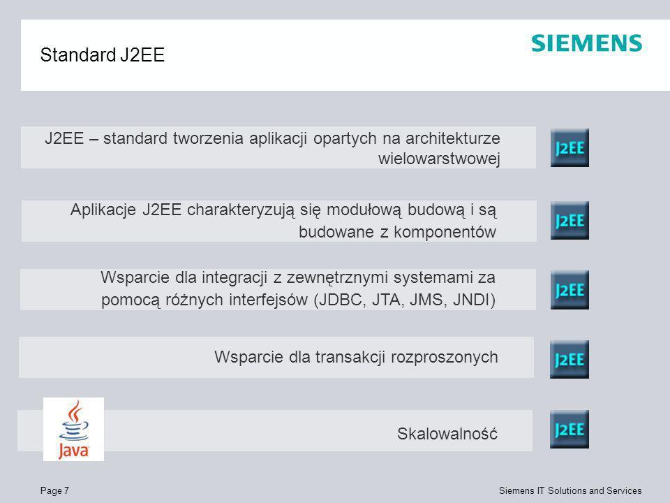 Standard J2EE J2EE – standard tworzenia aplikacji opartych na architekturze wielowarstwowej.
