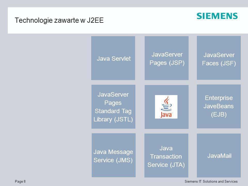Technologie zawarte w J2EE