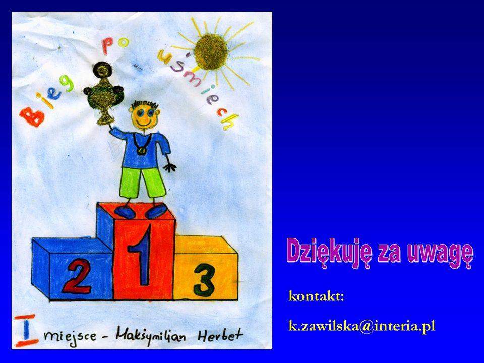 Dziękuję za uwagę kontakt: k.zawilska@interia.pl