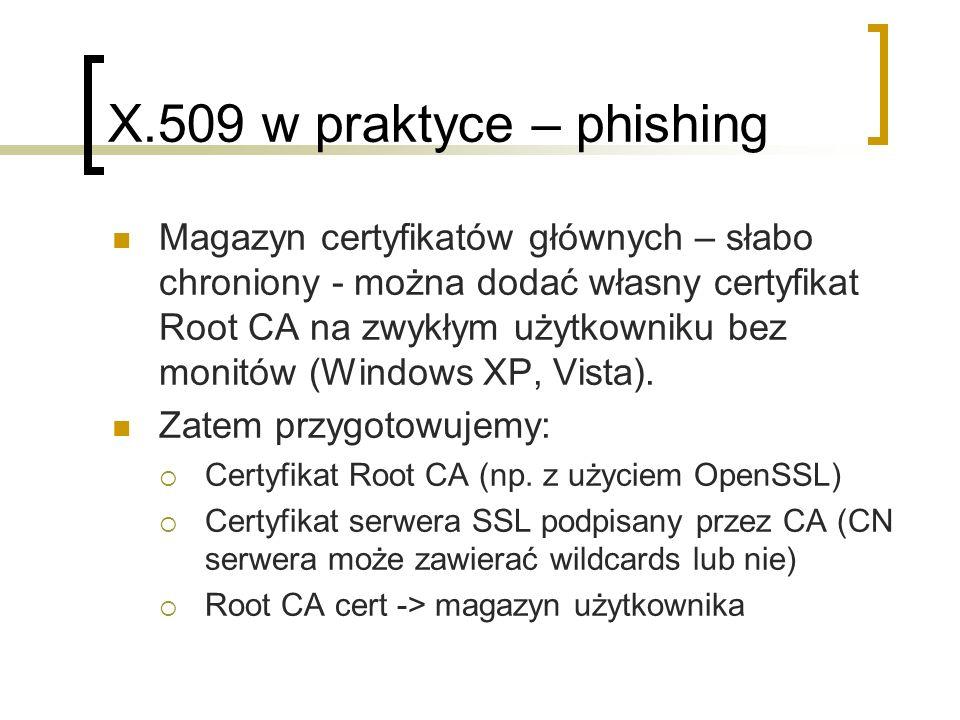 X.509 w praktyce – phishing
