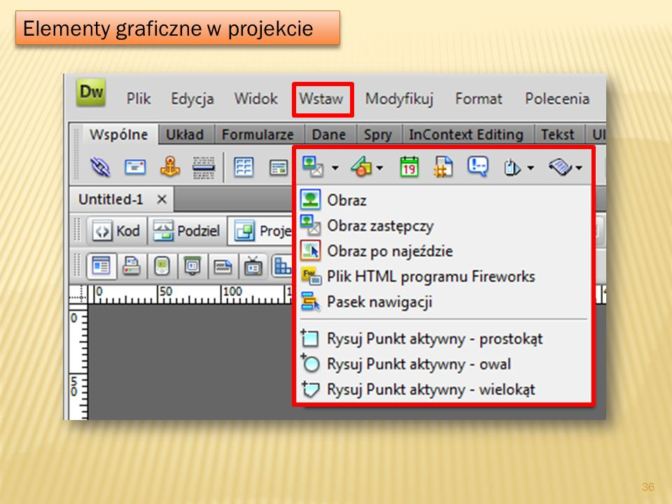 Elementy graficzne w projekcie