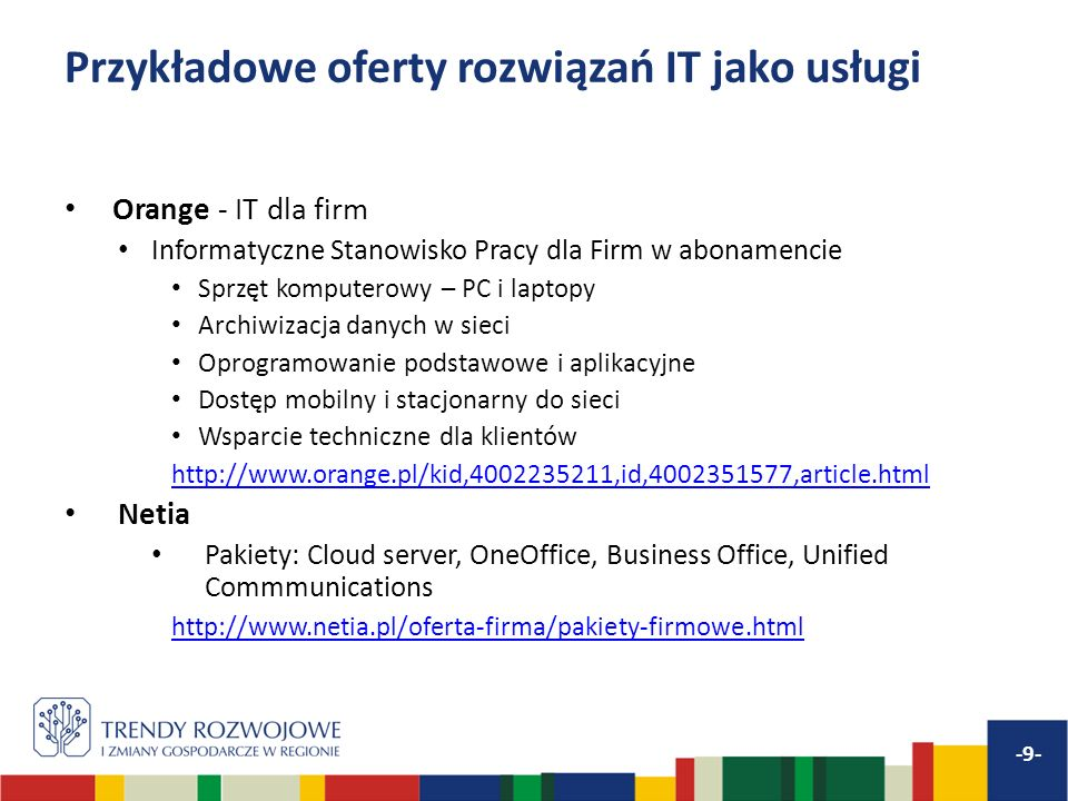 Przykładowe oferty rozwiązań IT jako usługi