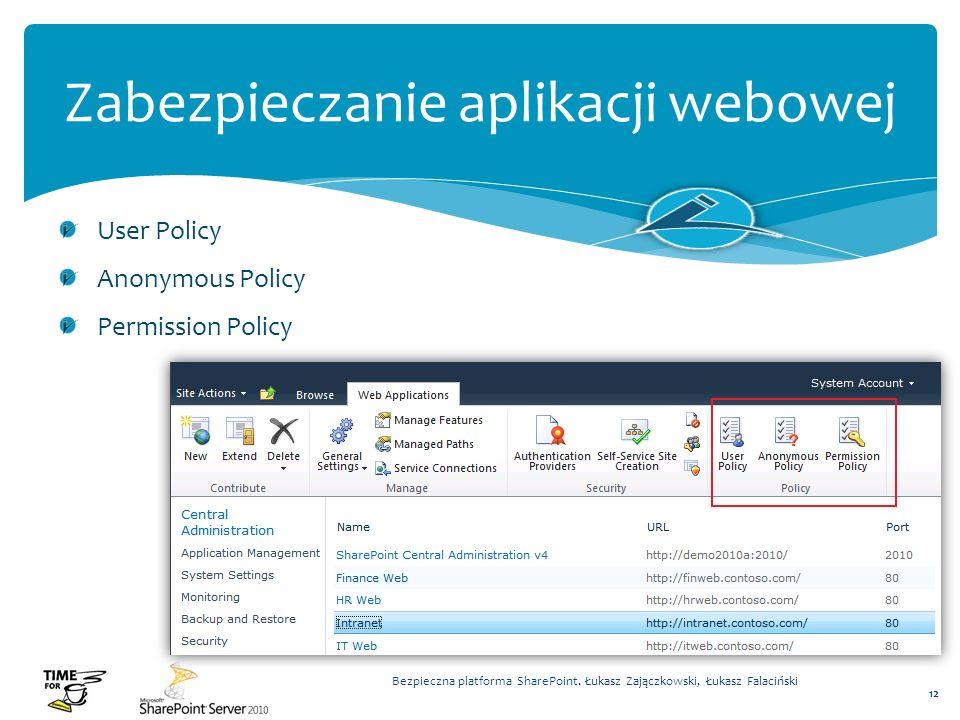 Zabezpieczanie aplikacji webowej