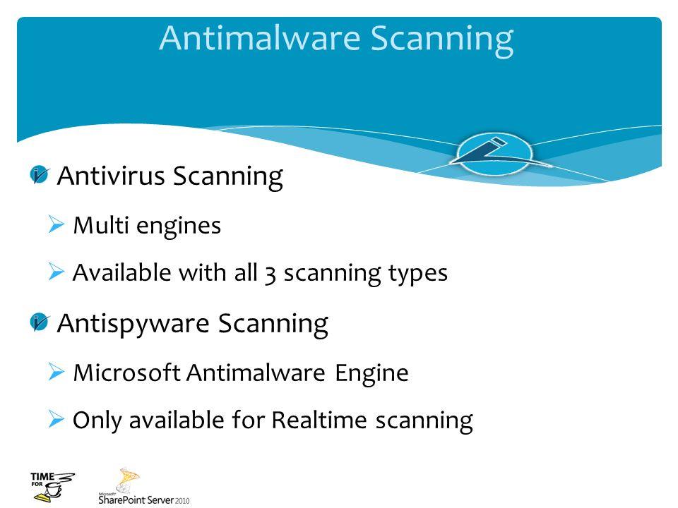 Antimalware Scanning Antivirus Scanning Antispyware Scanning
