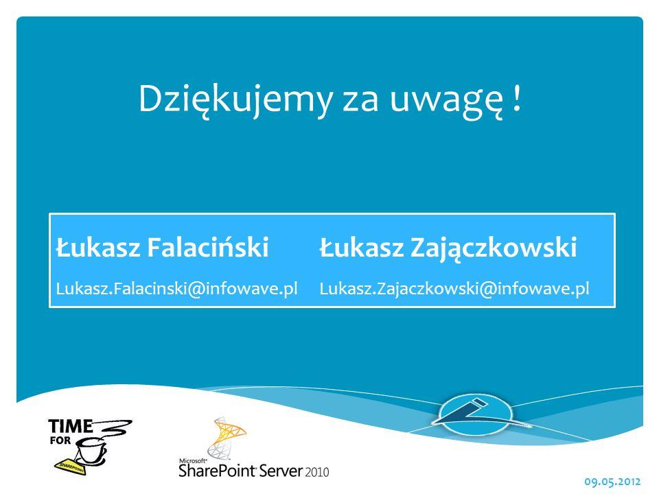 Dziękujemy za uwagę ! Łukasz Falaciński Łukasz Zajączkowski