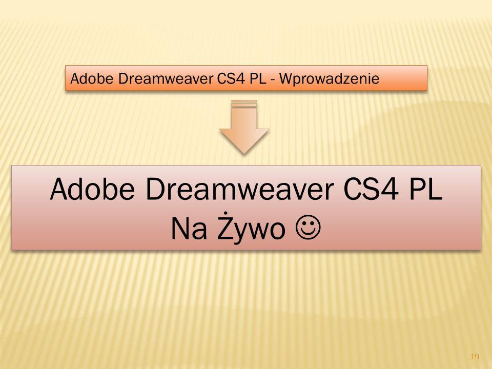 Adobe Dreamweaver CS4 PL Na Żywo 