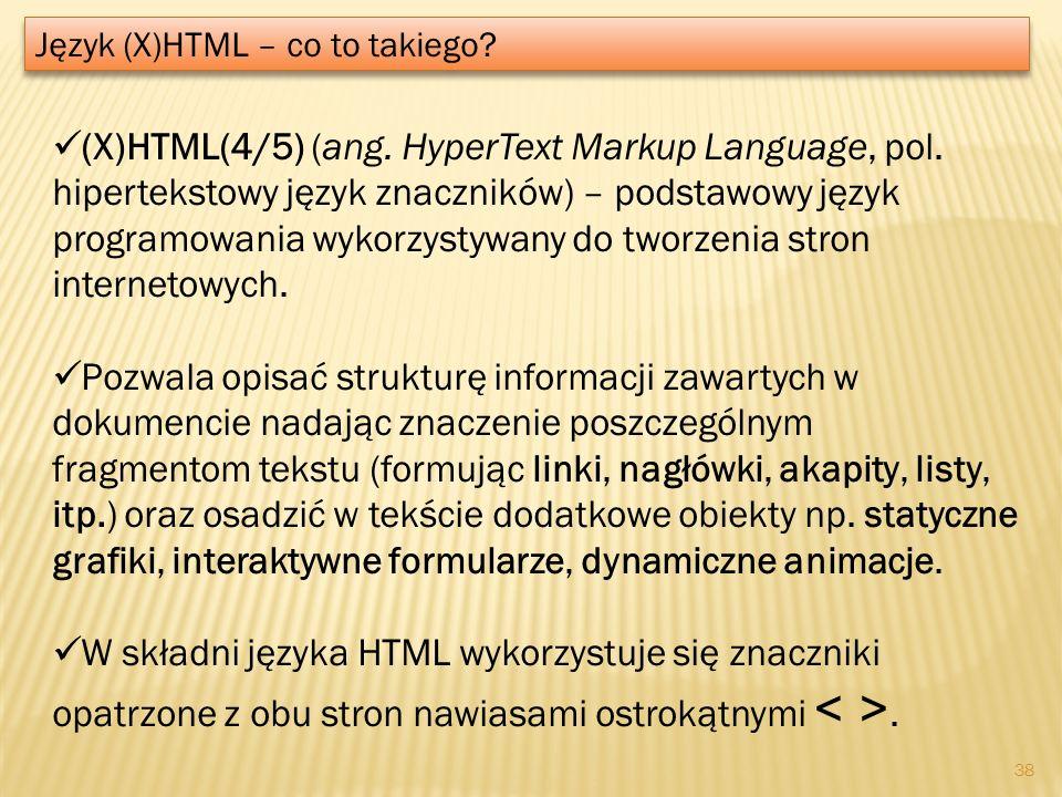 Język (X)HTML – co to takiego
