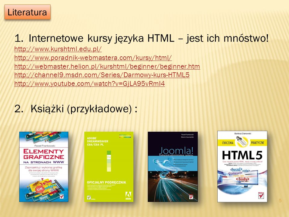 Internetowe kursy języka HTML – jest ich mnóstwo!