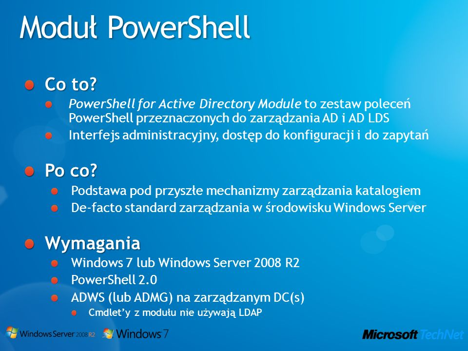 Moduł PowerShell Co to Po co Wymagania