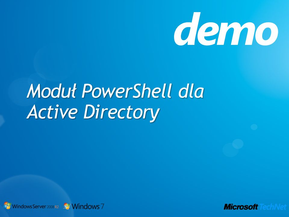 demo Moduł PowerShell dla Active Directory