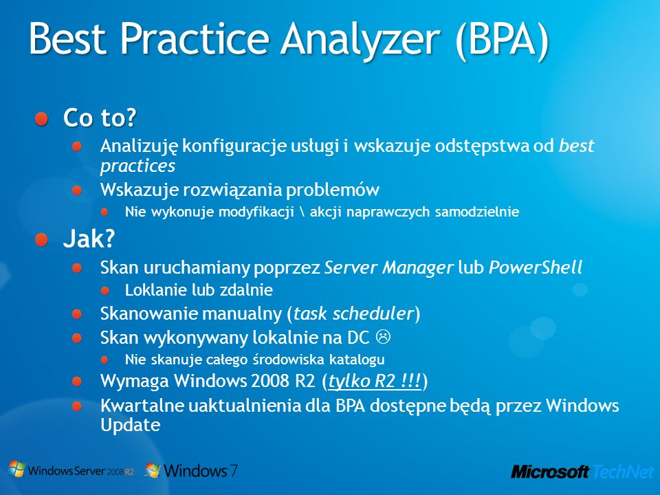 Best Practice Analyzer (BPA)