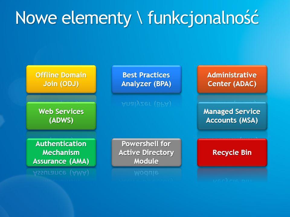 Nowe elementy \ funkcjonalność