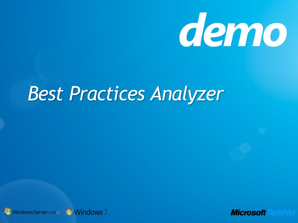 demo Best Practices Analyzer