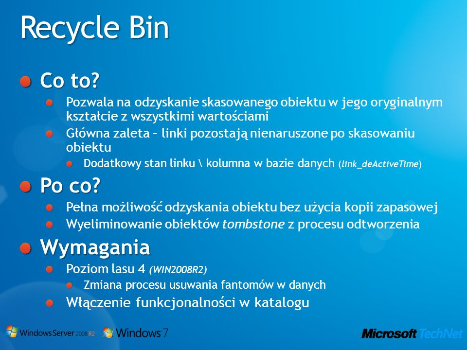Recycle Bin Co to Po co Wymagania