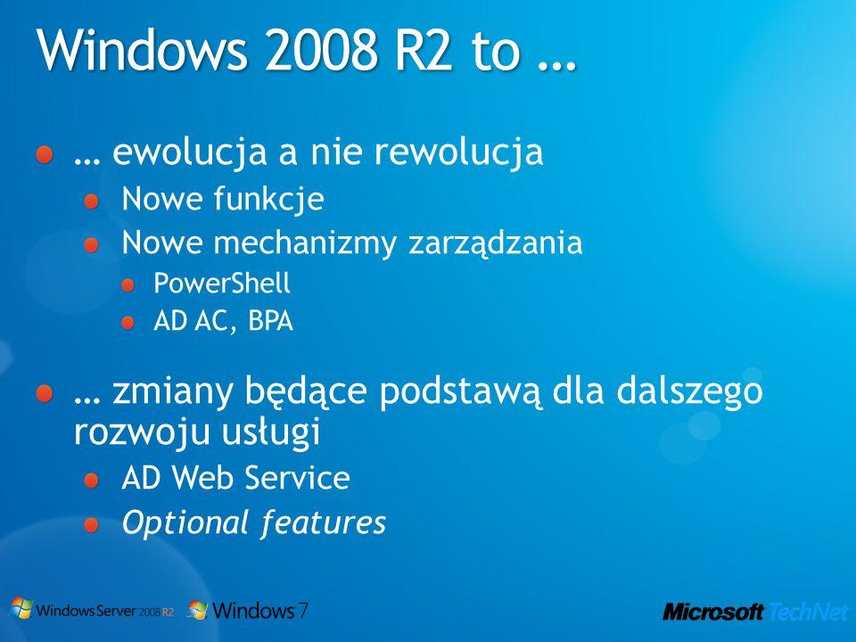 Windows 2008 R2 to … … ewolucja a nie rewolucja