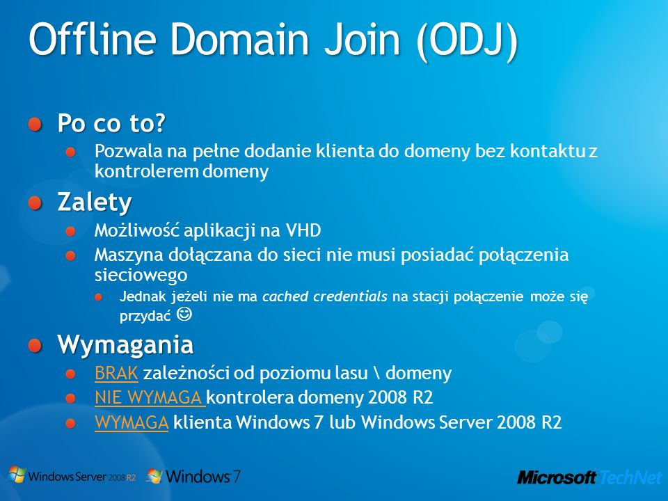 Offline Domain Join (ODJ)