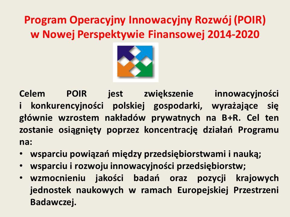 Program Operacyjny Innowacyjny Rozwój (POIR) w Nowej Perspektywie Finansowej 2014-2020