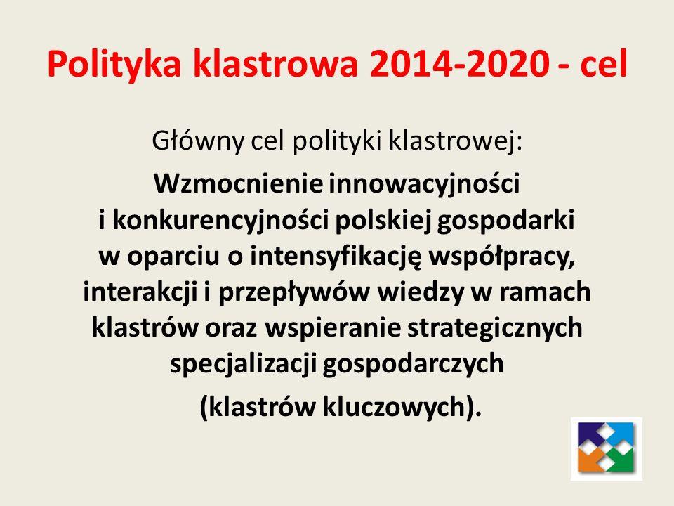 Polityka klastrowa 2014-2020 - cel