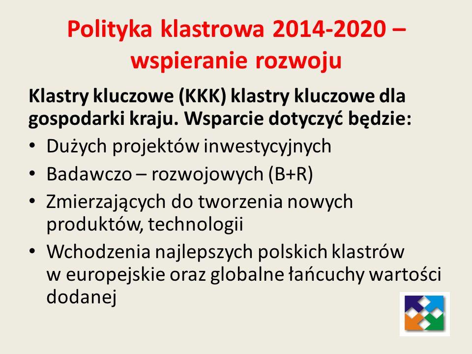Polityka klastrowa 2014-2020 – wspieranie rozwoju