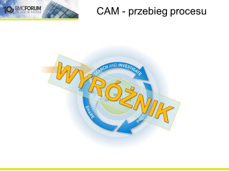 WYRÓŻNIK CAM - przebieg procesu