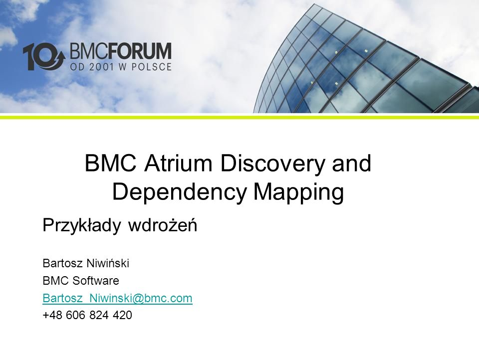BMC Atrium Discovery and Dependency Mapping